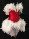 Burlesque Miss Santa Feather Dress